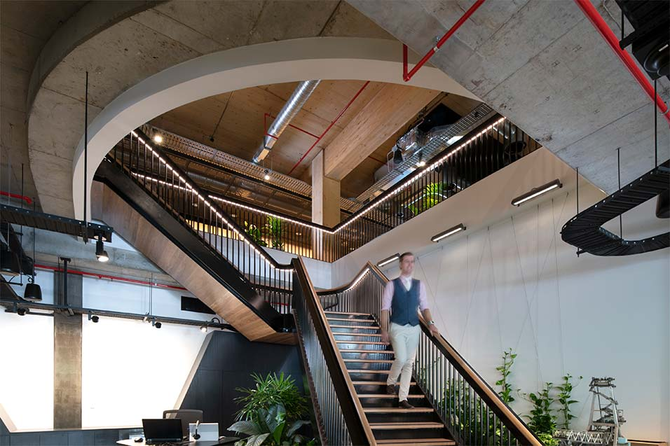 Aurecon Staircase man walking
